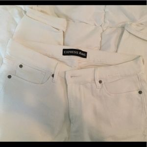 Express white 12R skinny jeans